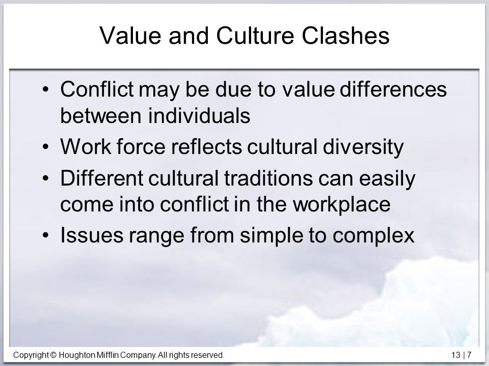 Value and Culture Clashes