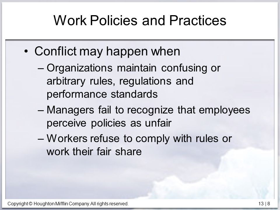 Work Policies and Practices