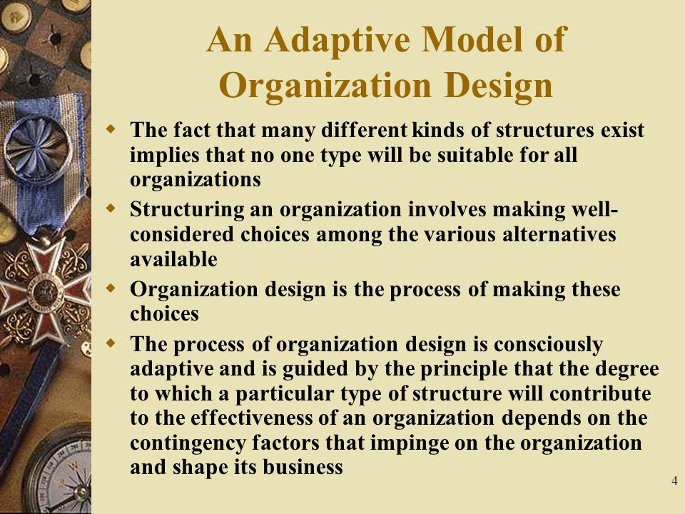 An Adaptive Model of Organization Design