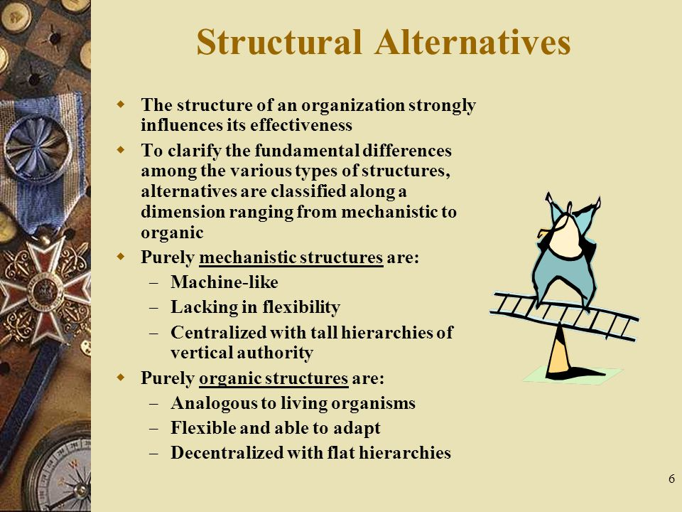 Structural Alternatives