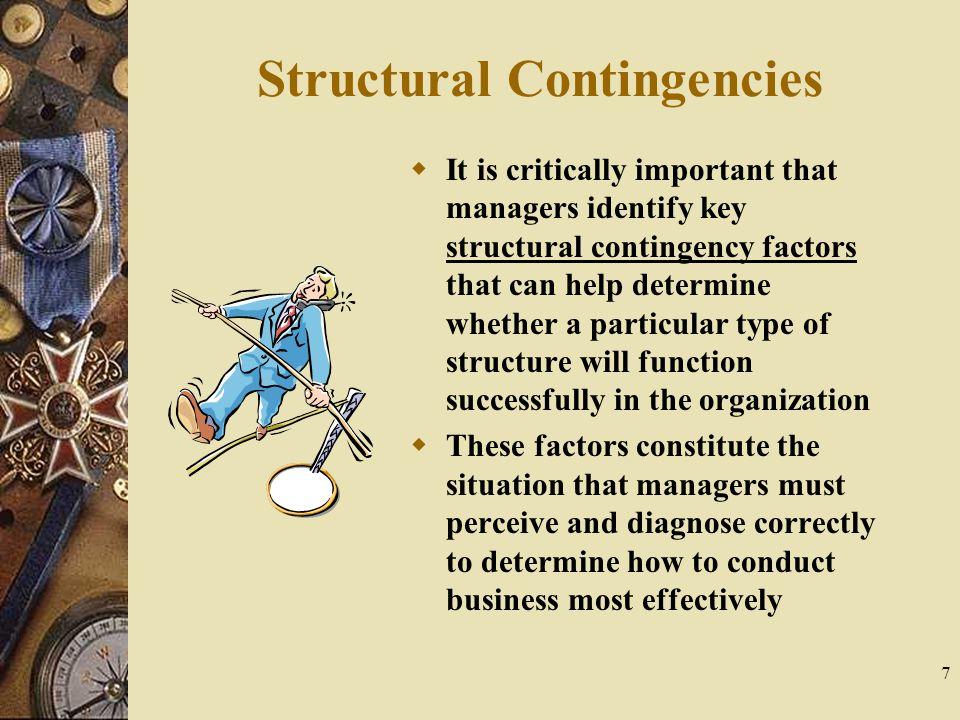 Structural Contingencies