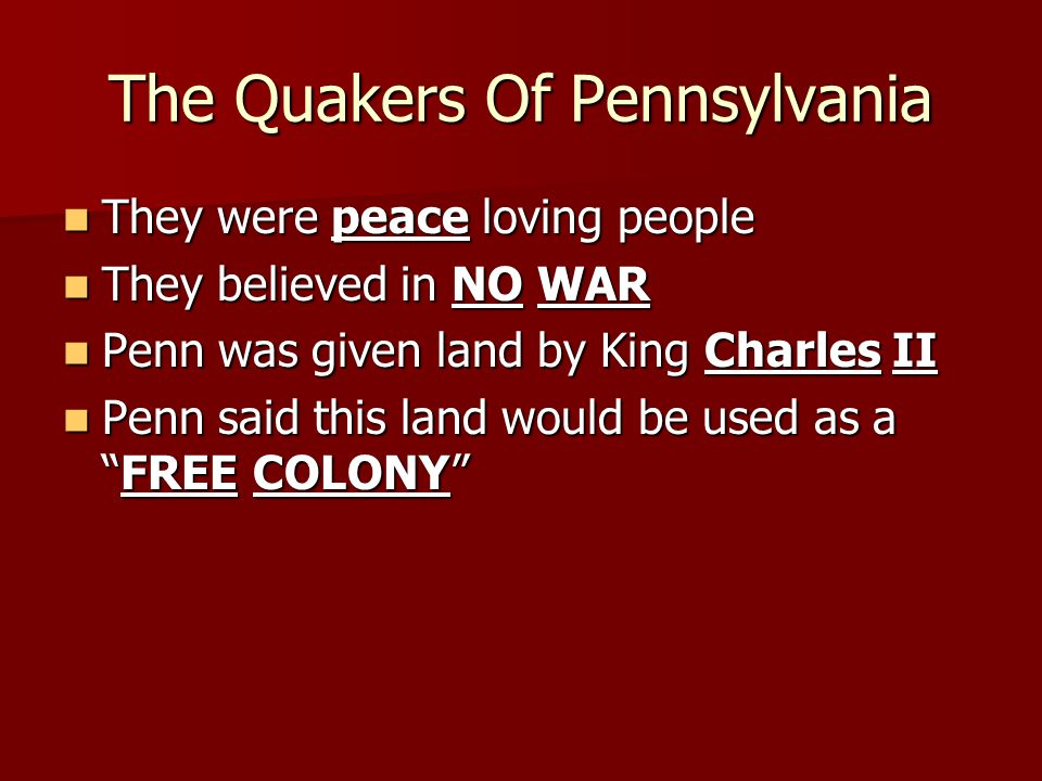 The Quakers Of Pennsylvania