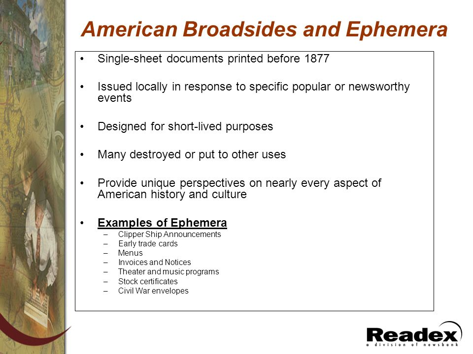American Broadsides and Ephemera