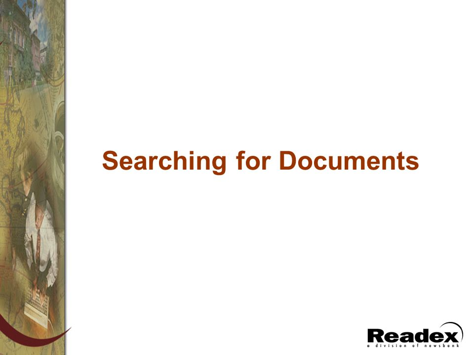 Searching for Documents