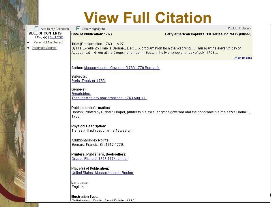 View Full Citation