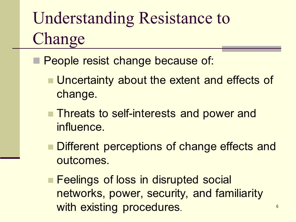 understanding innovation and change in an organisation essay Organizational change – reasons why people resist change expecting  resistance to change and planning for it from the start of your change.