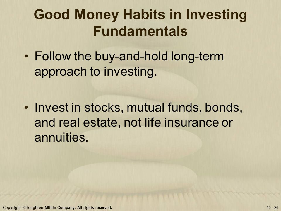 Good Money Habits in Investing Fundamentals