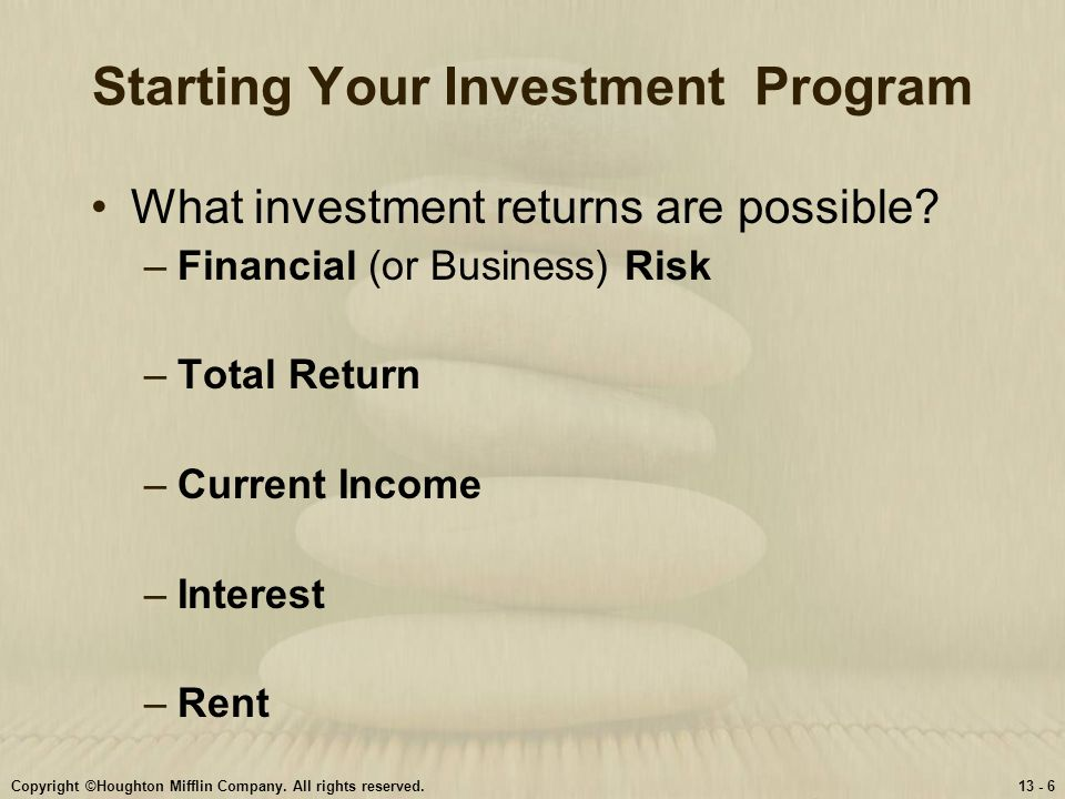 Starting Your Investment Program