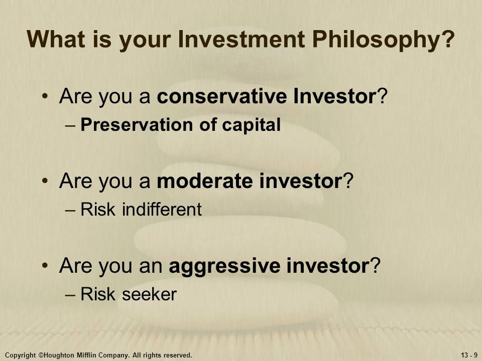 What is your Investment Philosophy