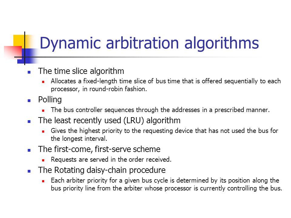 Dynamic arbitration algorithms