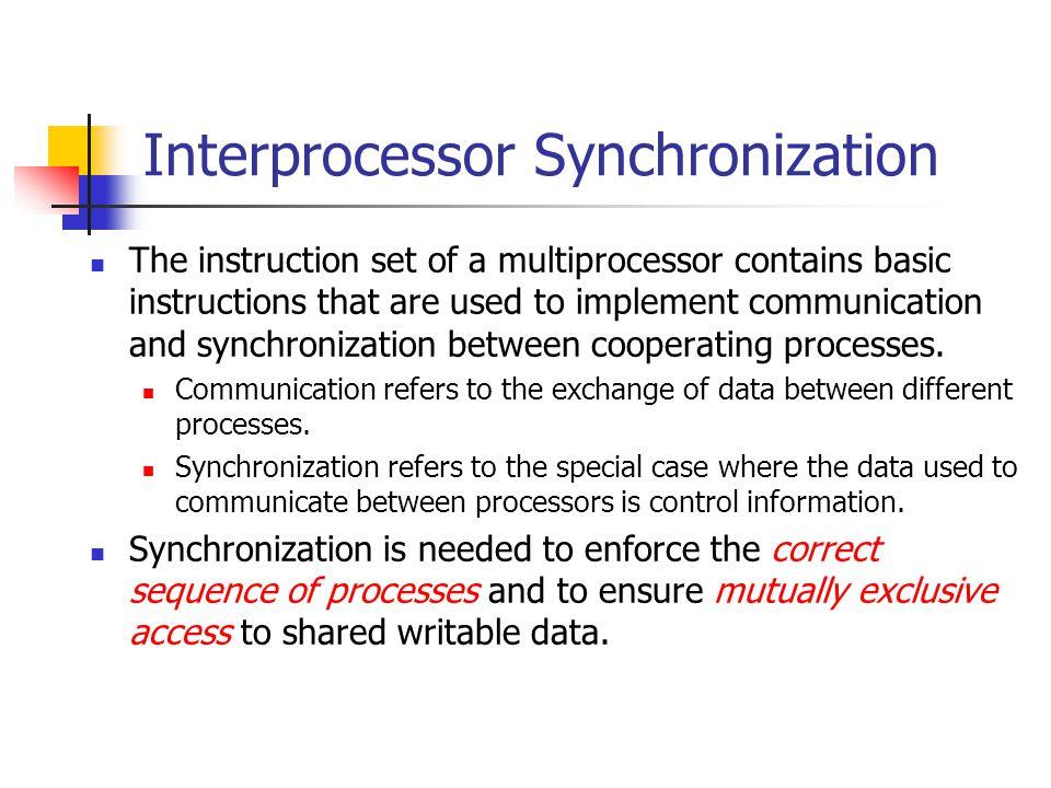 Interprocessor Synchronization