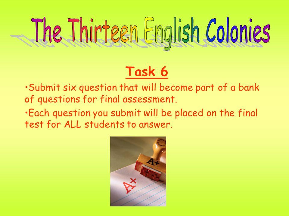 The Thirteen English Colonies