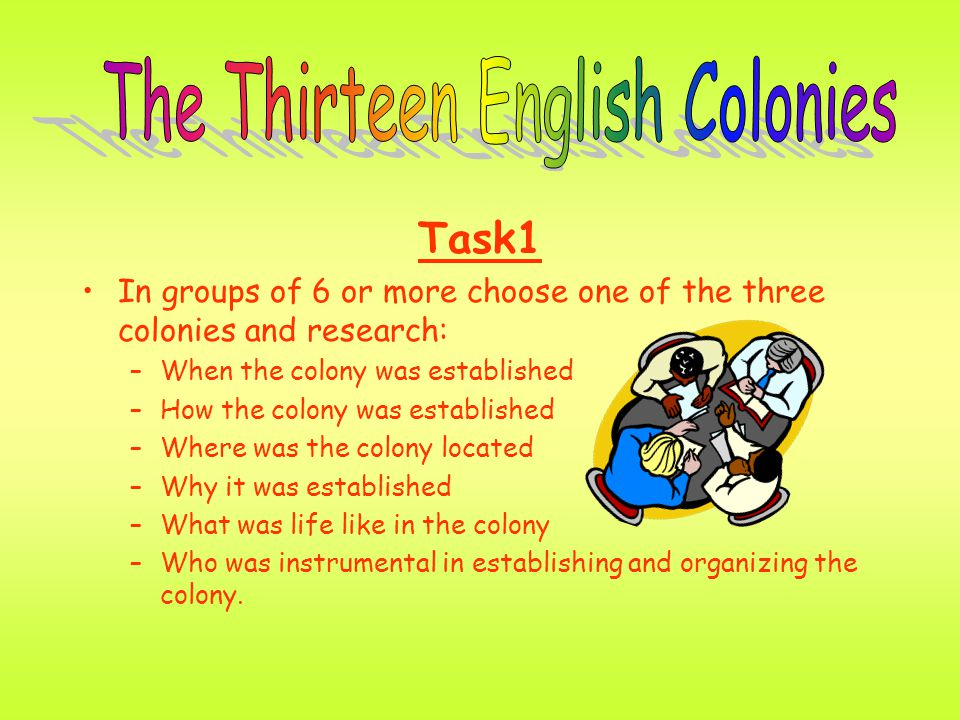 why where the colonies established Intermediate level establishing independence ☆ wwwuscisgov/citizenship 1 the colonies under british rule in the 1600s and 1700s, europeans came to north america looking for religious freedom, economic opportunities, and political liberty they created 13 colonies on the east coast of the continent later , when.