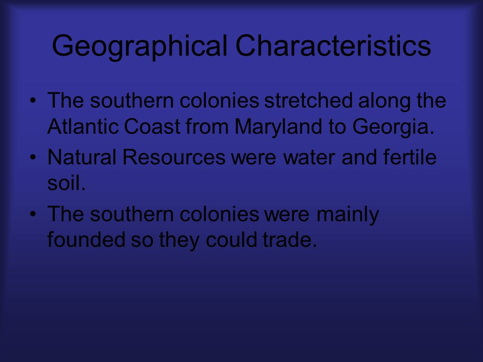 Geographical Characteristics