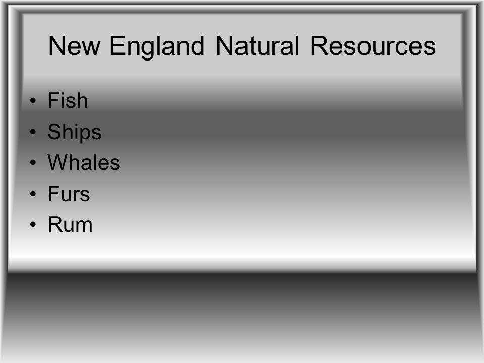 New England Natural Resources
