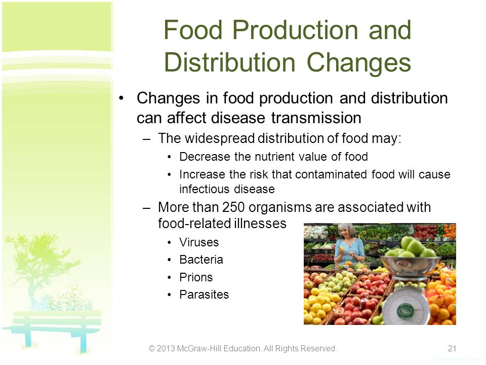 Food Production and Distribution Changes