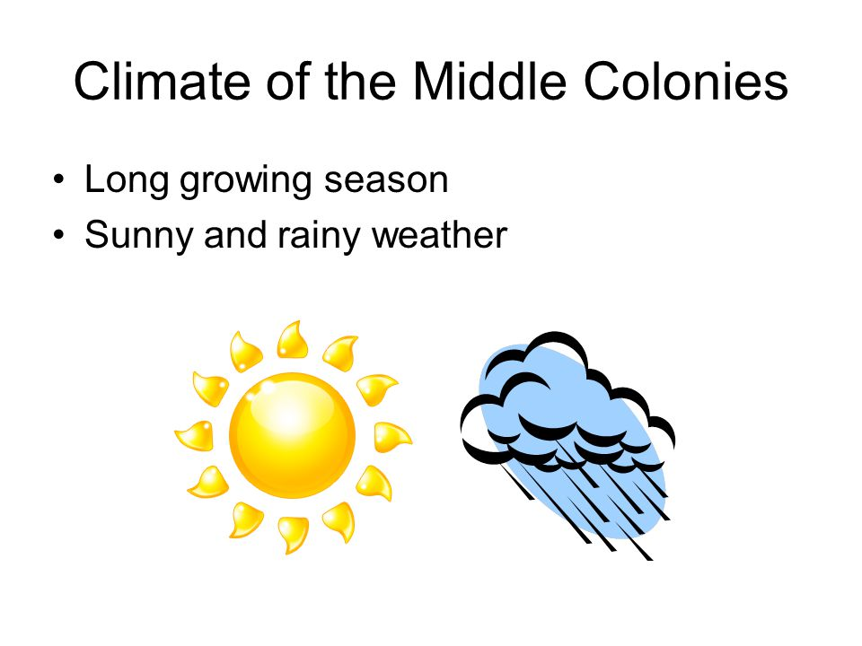 Climate of the Middle Colonies