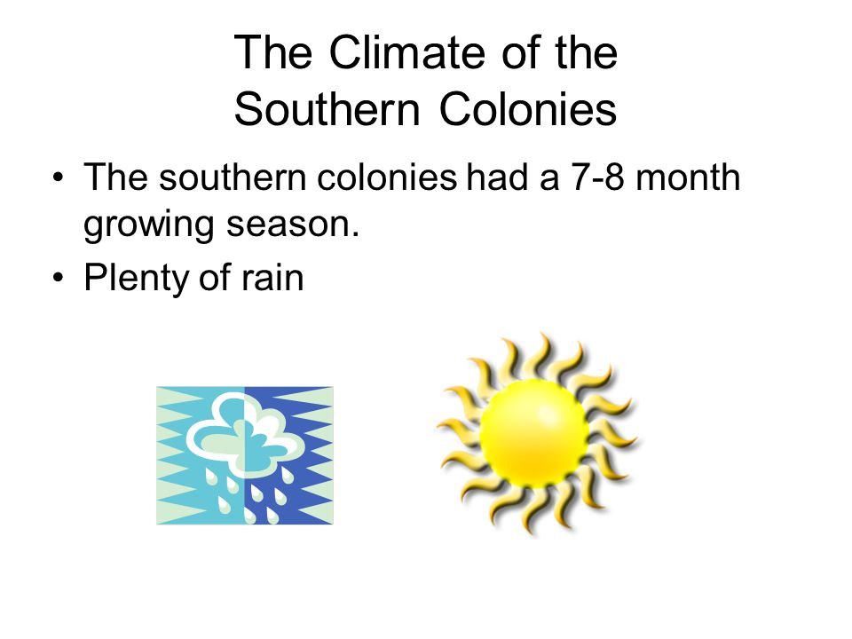 The Climate of the Southern Colonies