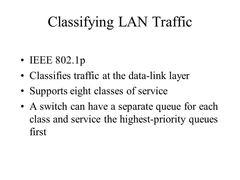 Classifying LAN Traffic