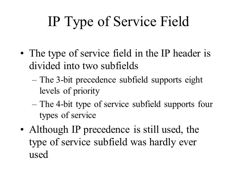 IP Type of Service Field