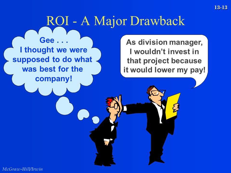 ROI - A Major Drawback Gee . . . I thought we were supposed to do what
