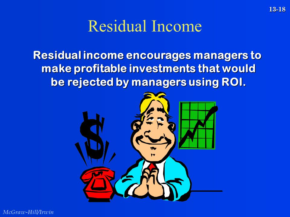 Residual Income Residual income encourages managers to