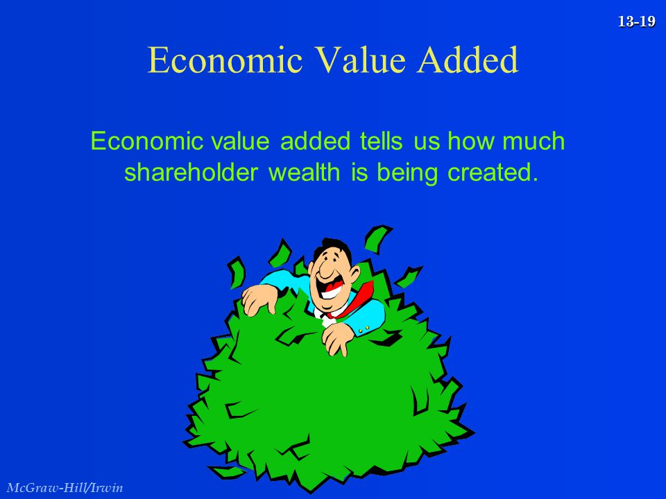 Economic Value Added Economic value added tells us how much shareholder wealth is being created.
