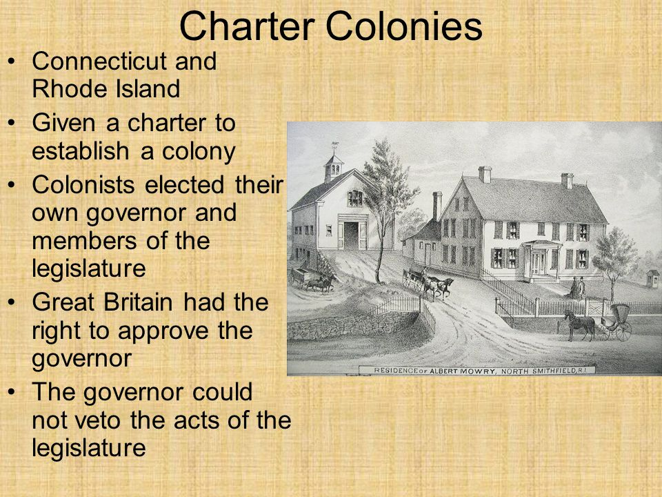 Charter Colonies Connecticut and Rhode Island