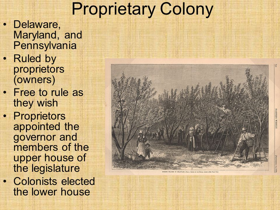 Proprietary Colony Delaware, Maryland, and Pennsylvania