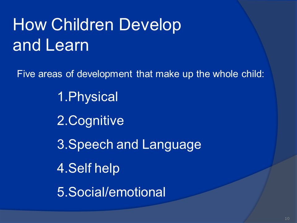 How Children Develop and Learn