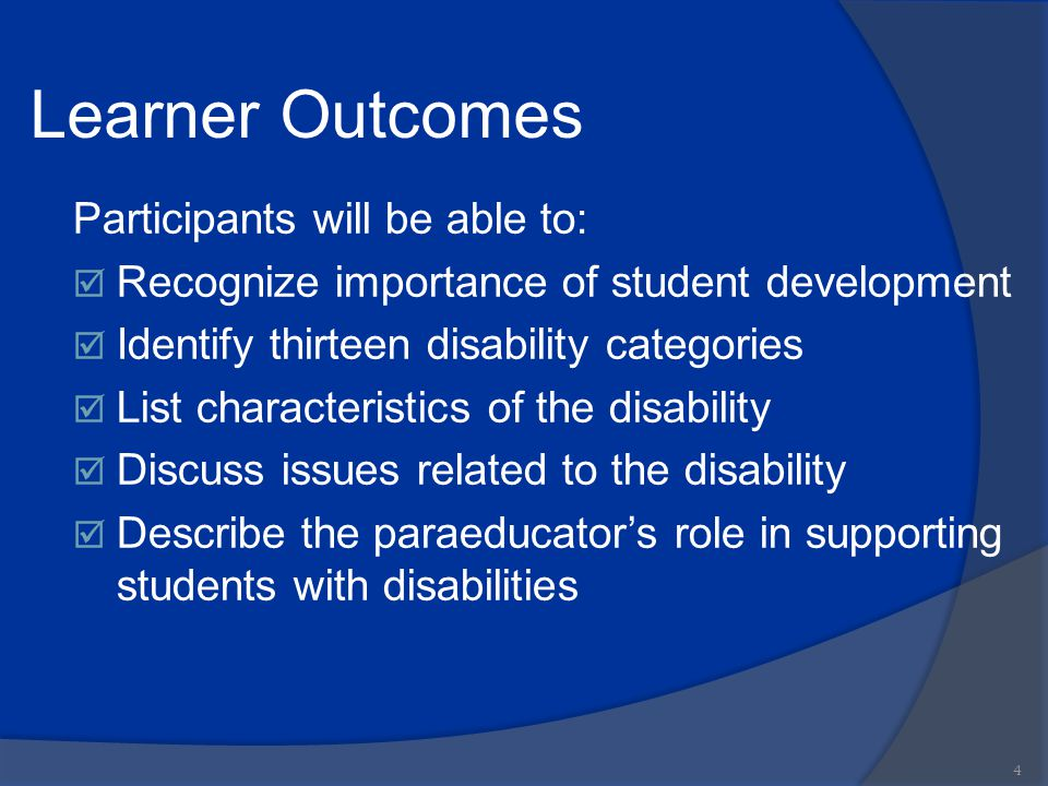 Learner Outcomes Participants will be able to: