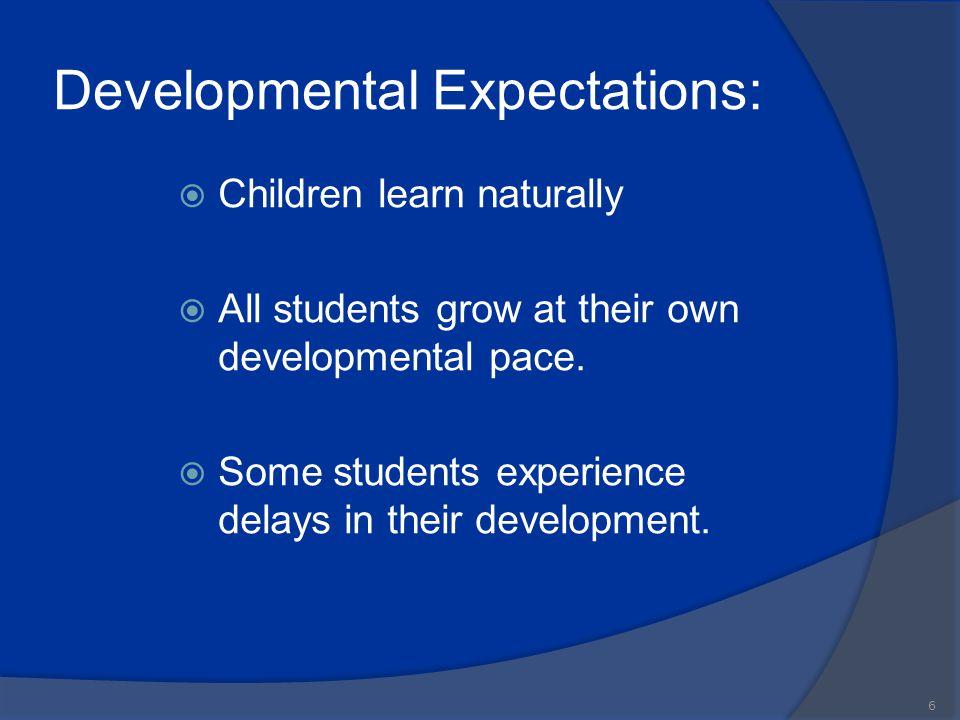 Developmental Expectations: