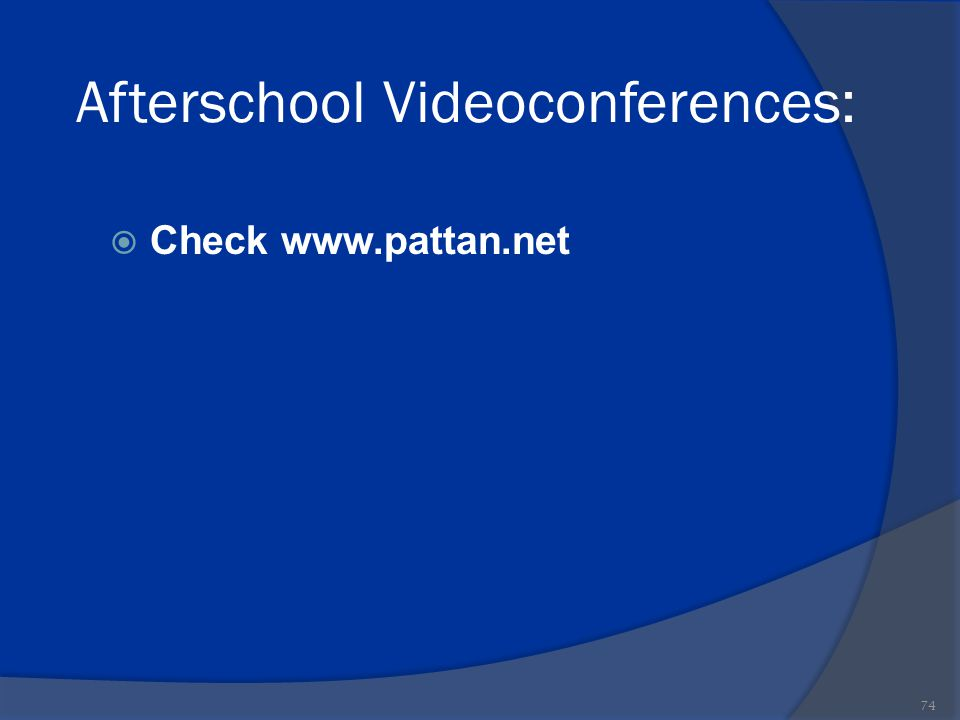 Afterschool Videoconferences: