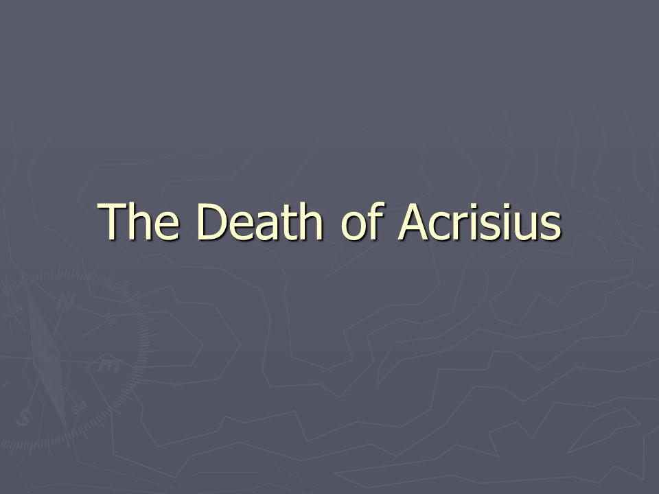 The Death of Acrisius
