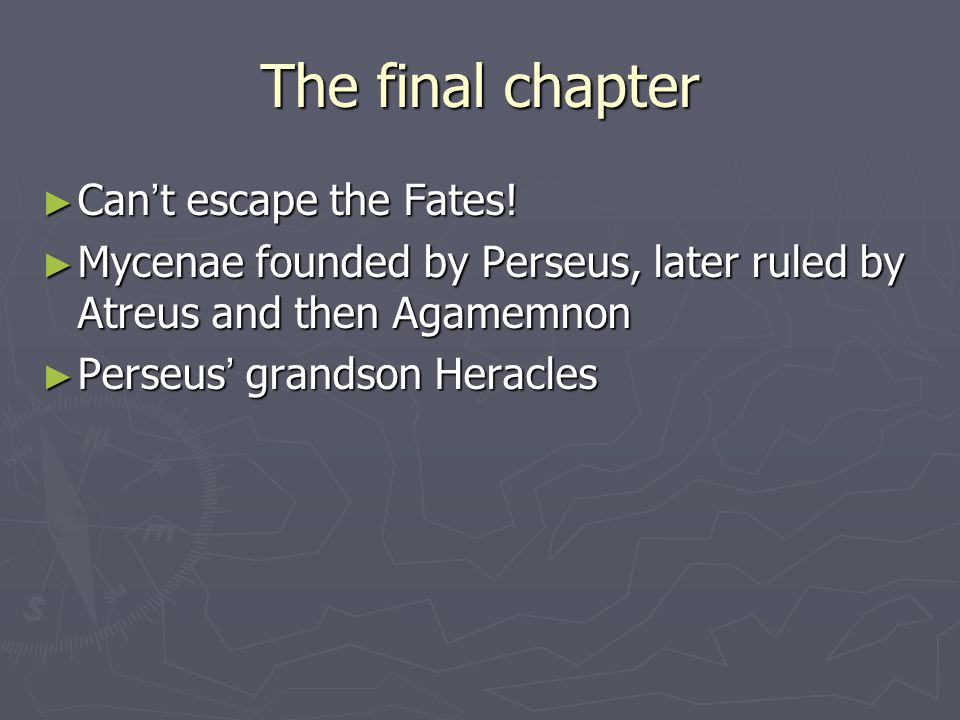 The final chapter Can't escape the Fates!