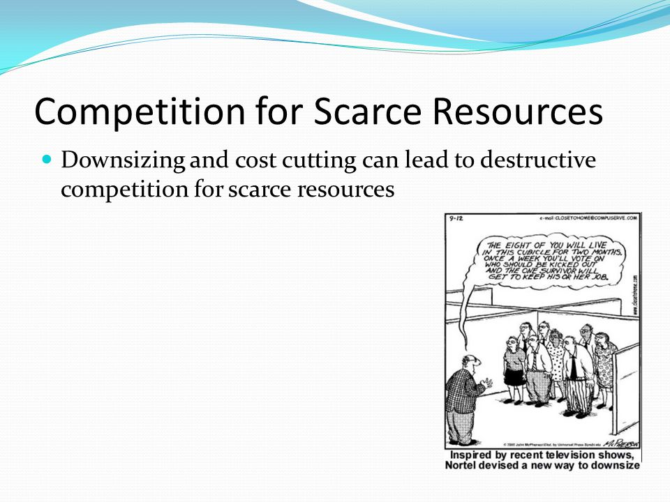 Competition for Scarce Resources