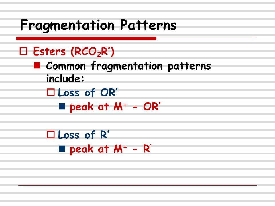 Fragmentation Patterns