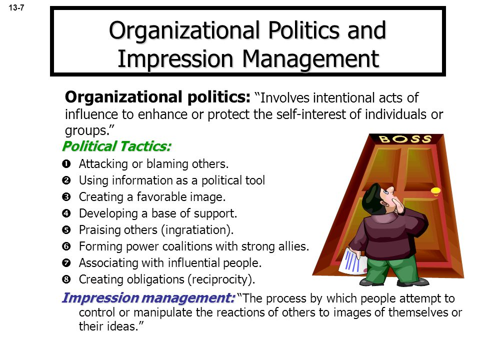 Organizational Politics and Impression Management