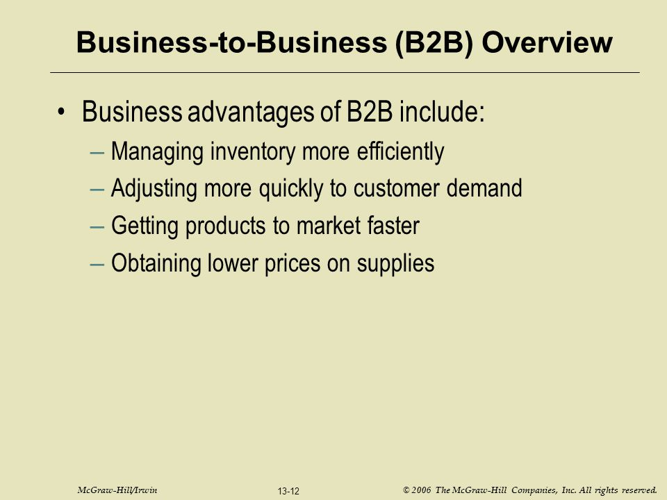 Business-to-Business (B2B) Overview