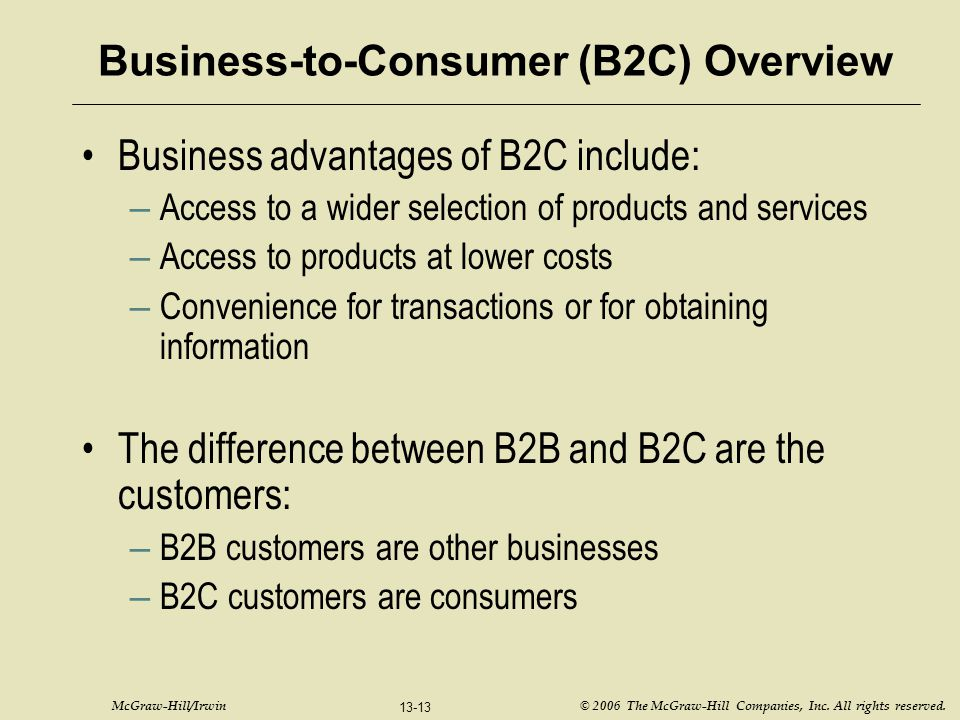 Business-to-Consumer (B2C) Overview