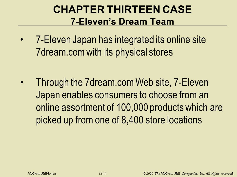 CHAPTER THIRTEEN CASE 7-Eleven's Dream Team