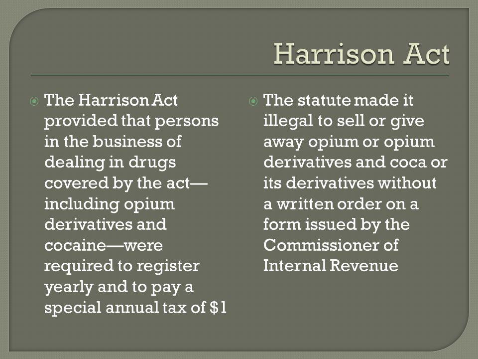 Harrison Act