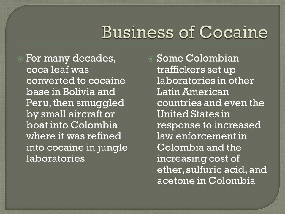 Business of Cocaine