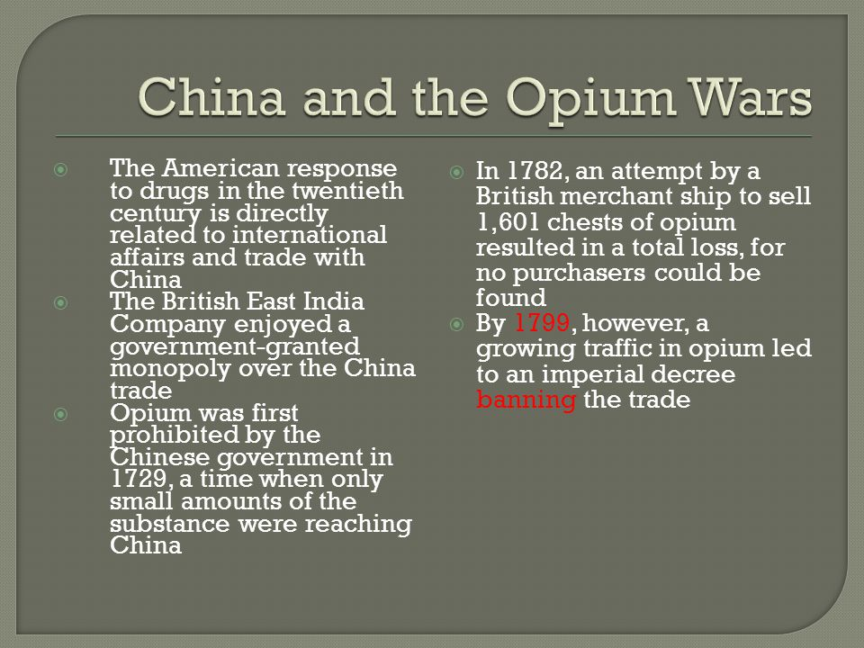 China and the Opium Wars