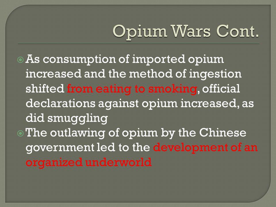 Opium Wars Cont.