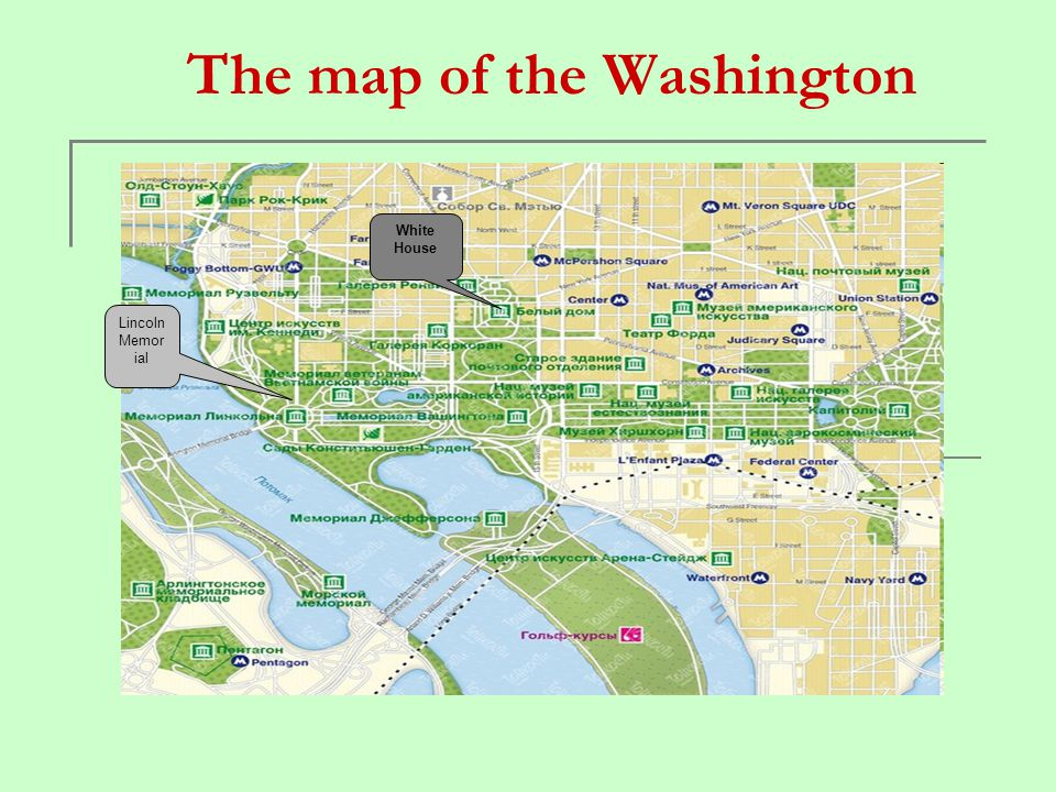 The map of the Washington