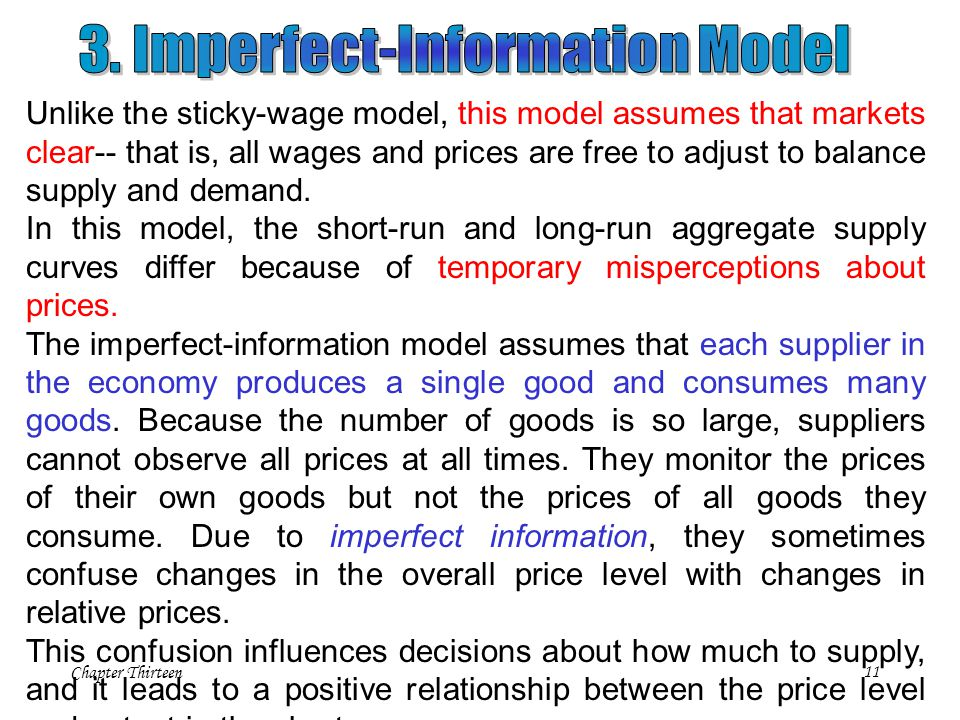 3. Imperfect-Information Model