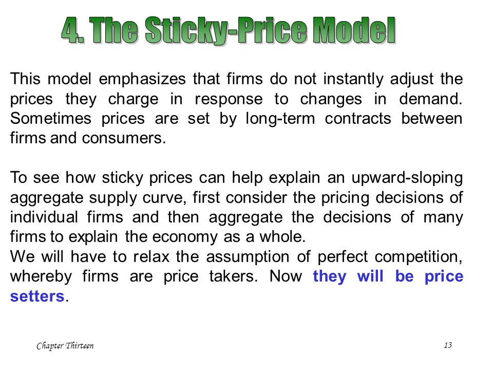 4. The Sticky-Price Model