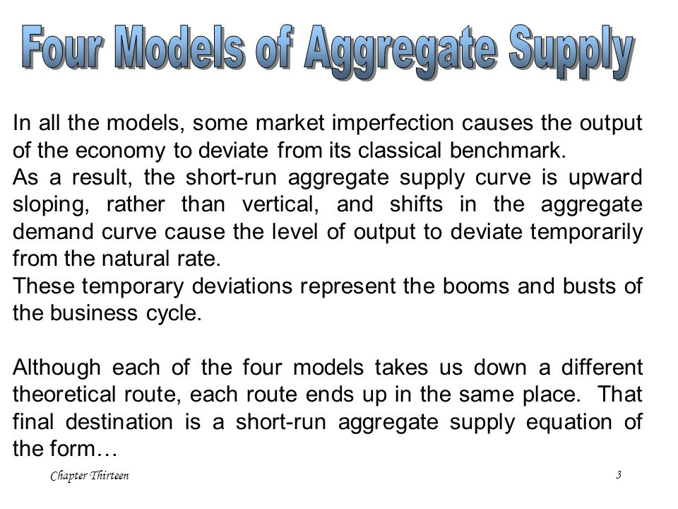Four Models of Aggregate Supply