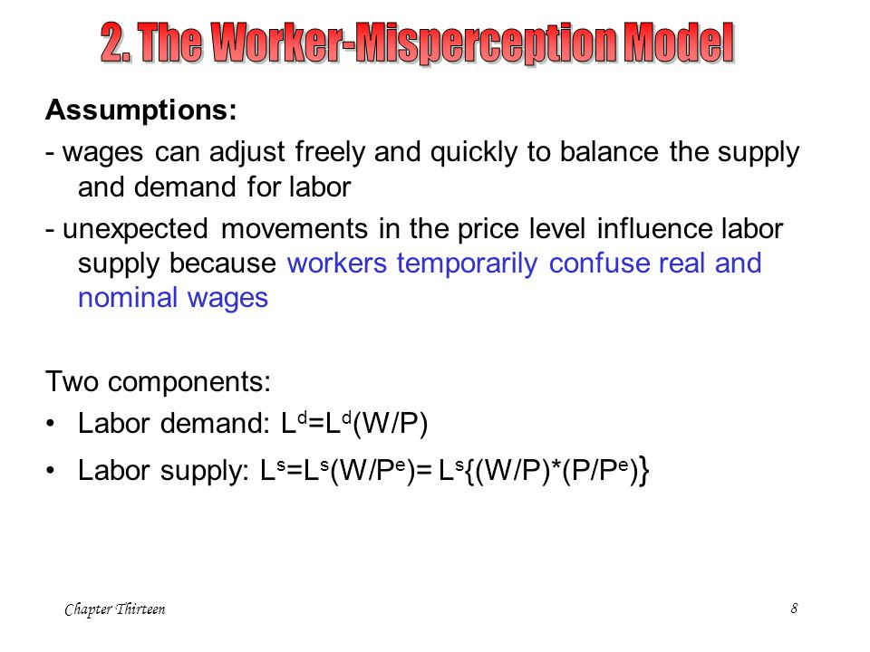 2. The Worker-Misperception Model